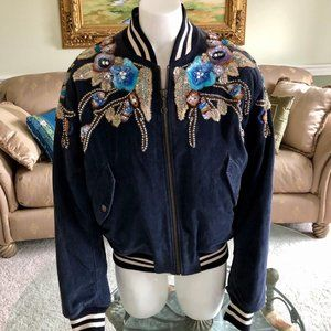 Gucci Velvet Corduroy Bomber Jacket - Retail $5650
